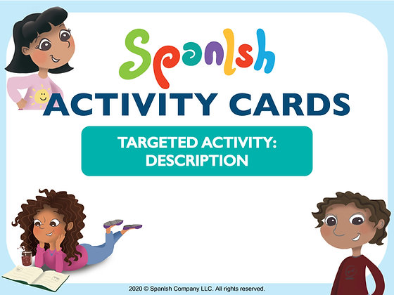 Activity Cards: Descriptions & Vocabulary (English)