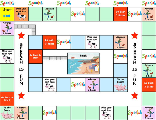 Board Game: First One to the Beach! (English)