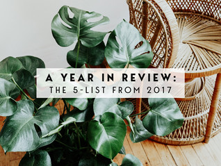 A year in Review: The 5-list from 2017