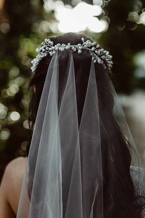 Paulina - Pearl Hairpiece Veil