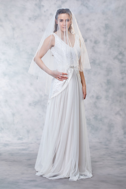 Valerie -Embroidered To Have And To Hold Veil