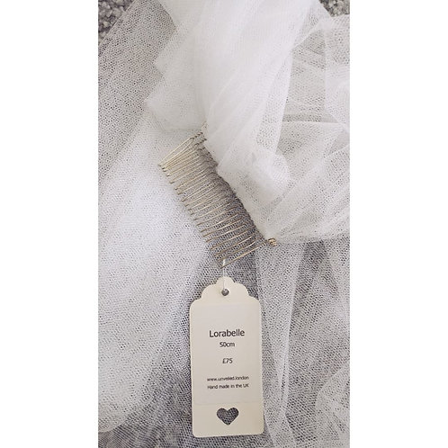SALE VEIL - Lorabelle - Soft Tulle -WHITE