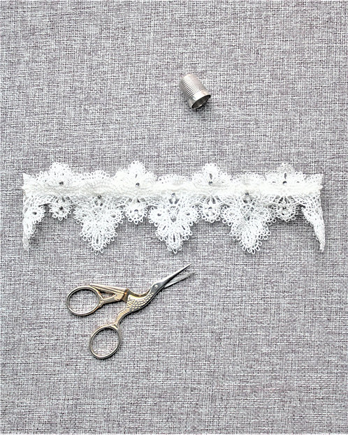 Darcey - French Lace & Crystal Garter