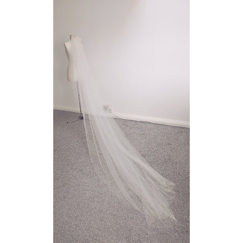 SALE VEIL - Connie Crystal Cathedral Veil - IVORY