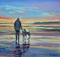 Dog walker, Foxton