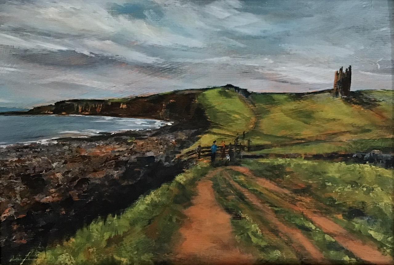 Towards Dunstanburgh