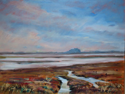 Bamburgh Castle from Beal