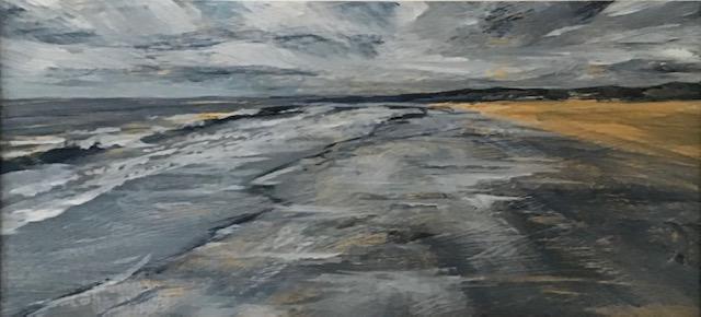 Grey sky cold sea