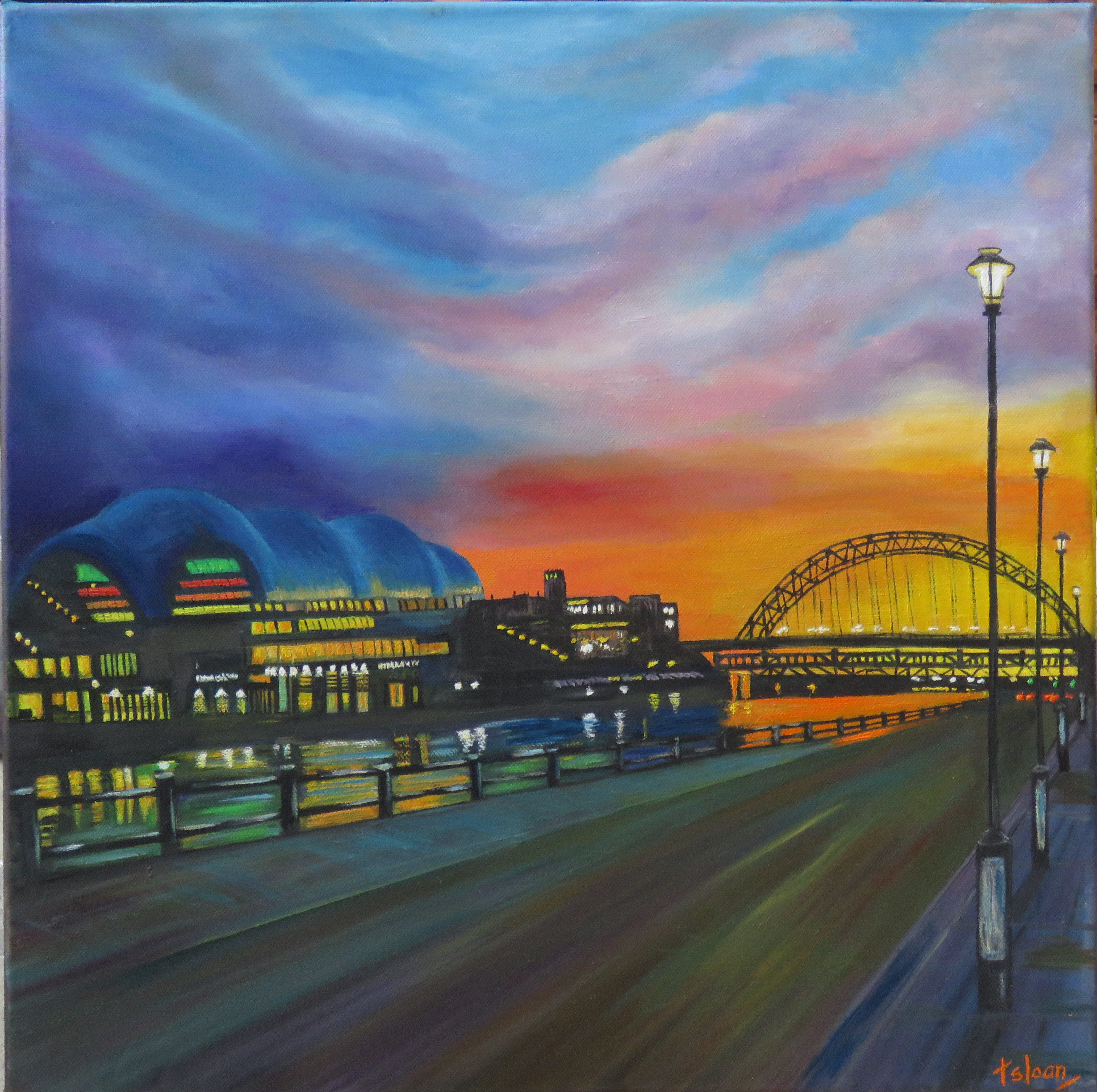 Sunset on the Quayside