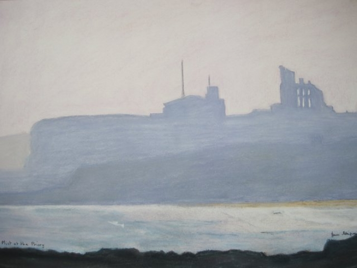 Mist at Tynemouth priory