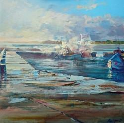 Beadnell Harbour, full tide