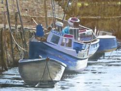 Fishing boats at Seaton Sluice