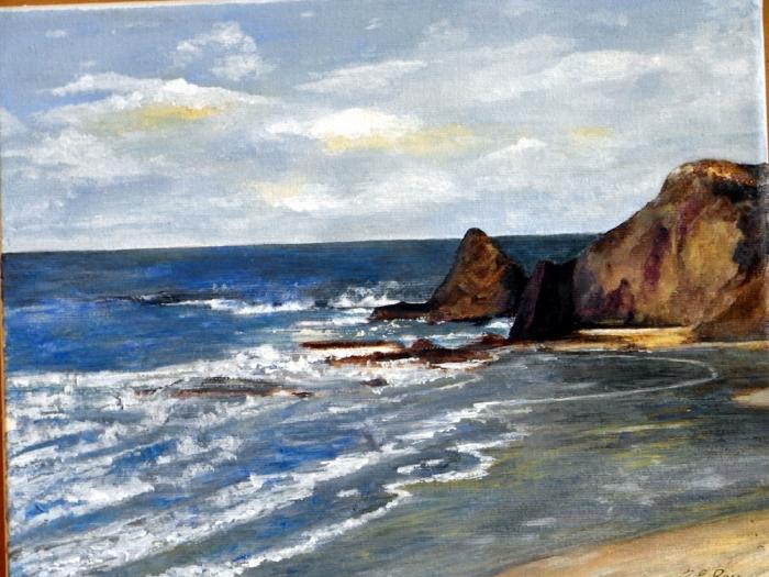 The coast near Cascais, Portugal