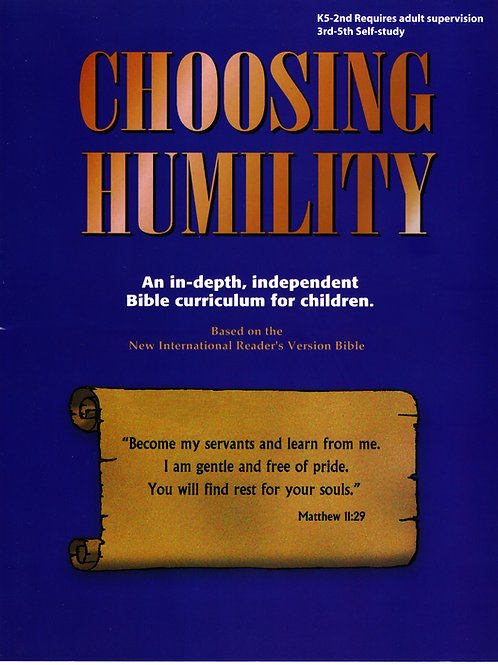 Elementary Age - Choosing Humility