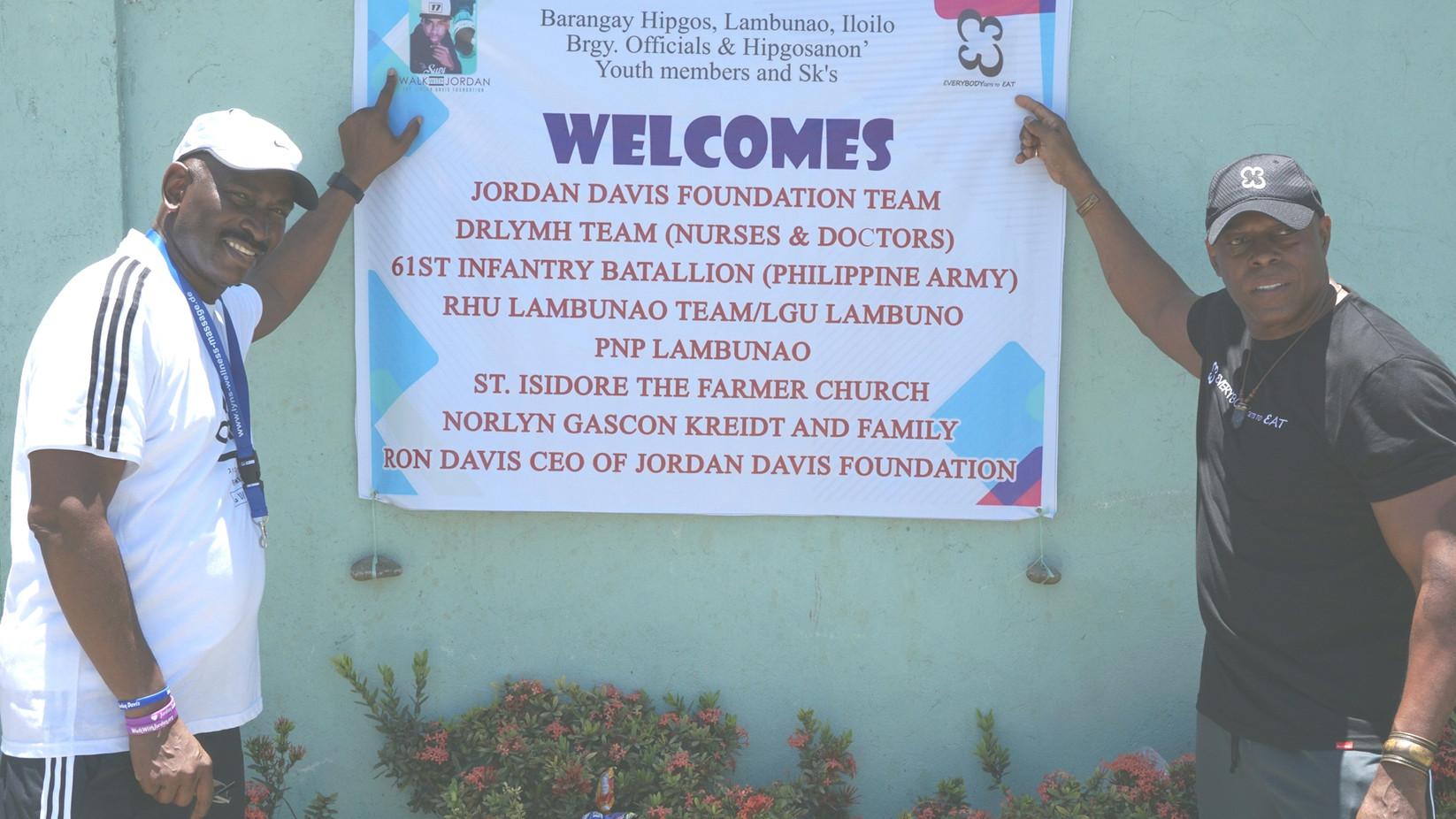 Welcome Banner, Hipgos Lambunao