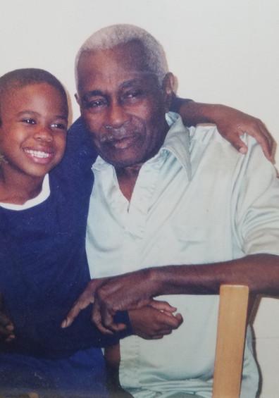 Jordan and Grandpa, Percy Davis
