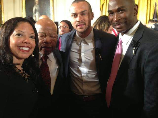 With John Lewis and Jesse L Williams at the White House