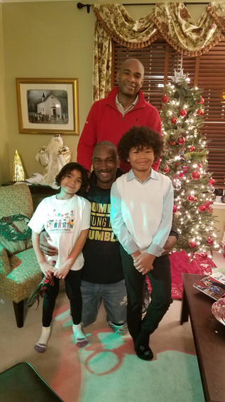 Xmas with Alonzo (my son) and Grandkids