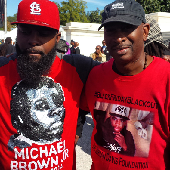 Michael Brown Sr. and I at a rally