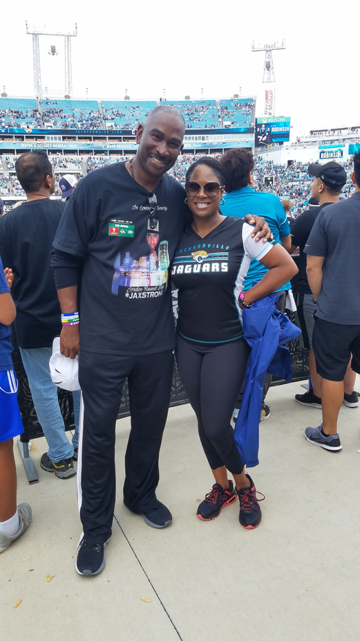 Ron and Dawn Lopez news anchor at Jaguar