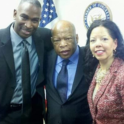 Lucy and I with Congressman John Lewis
