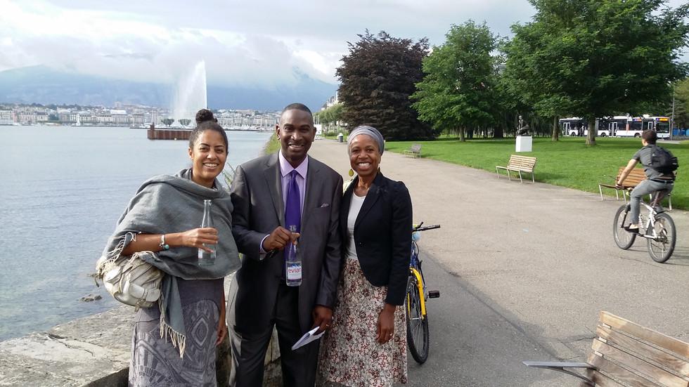 With Ejim and Salimah in Geneva with USHRN