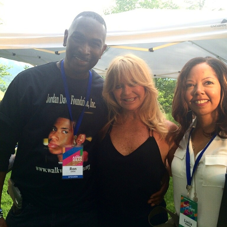 Aspen Ideas Fest. Goldie Hawn (actress) and Lucy