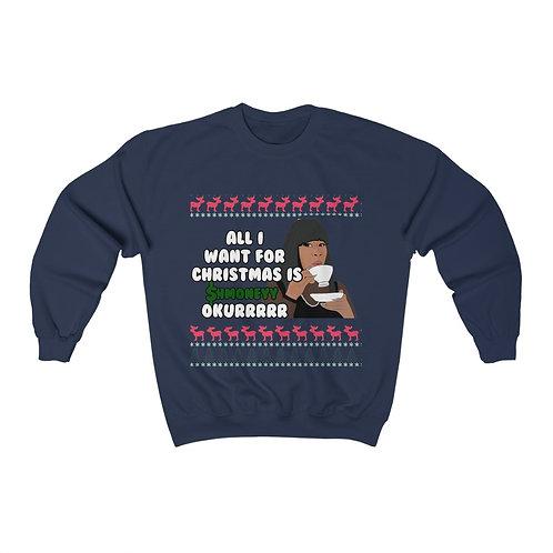 """Shmoney"" Ugly Chrihma Sweatshirt"