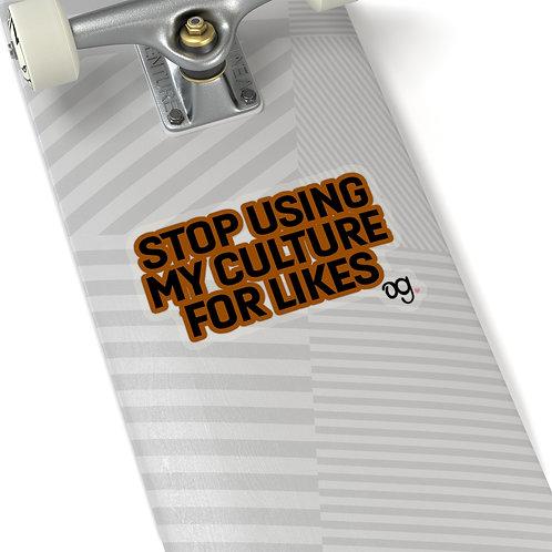 """""""Culture Vulture"""" Kiss-Cut Stickers"""