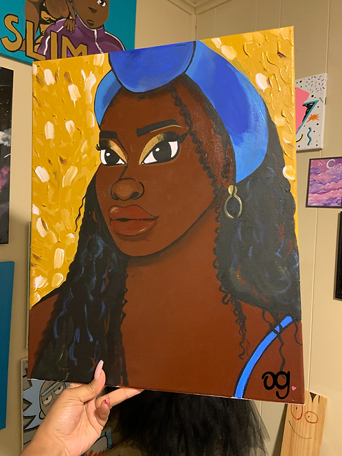 """Honey Hued"" Canvas Art"