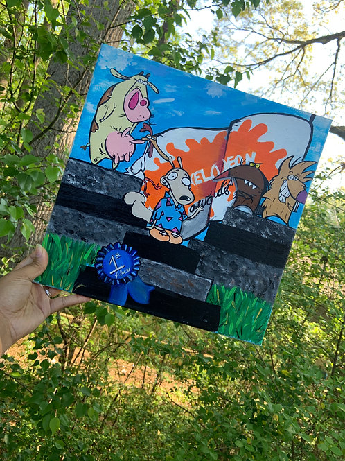 """First Place Goes to"" Canvas Painting"