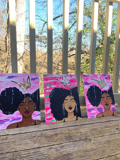 """Sugar, Spice & Everything Nice"" Panel Canvas Painting Set"