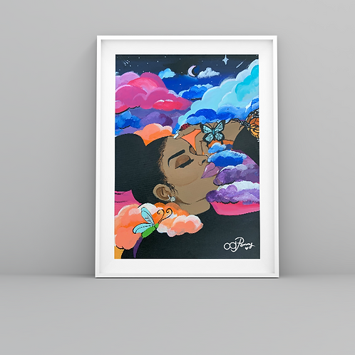 """""""Head in the Clouds"""" Art Prints"""