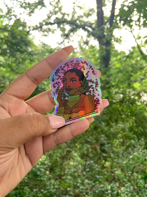 """Holographic """"Empress"""" Stickers"""