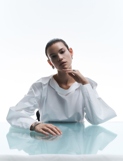 Emilia Schüle x Sleek