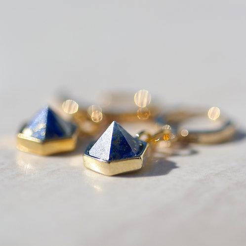 """""""Lisa"""" earrings in blue Lapis"""