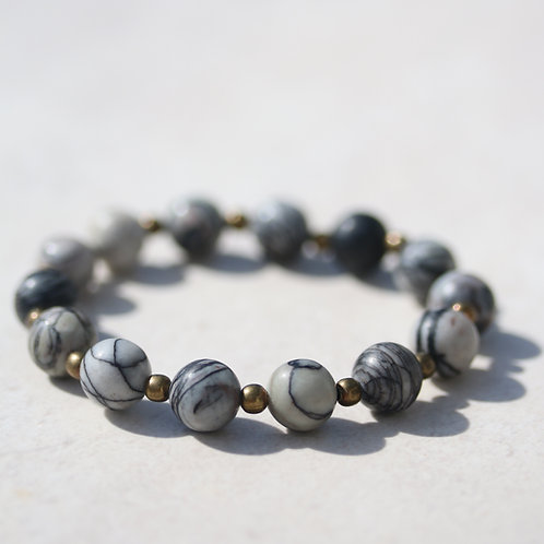 Natural Picasso Jasper gemstone bracelet