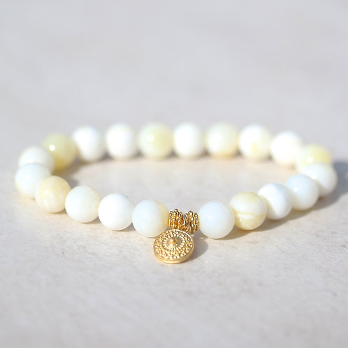 St. Tropez bracelet with Mother of Pearl