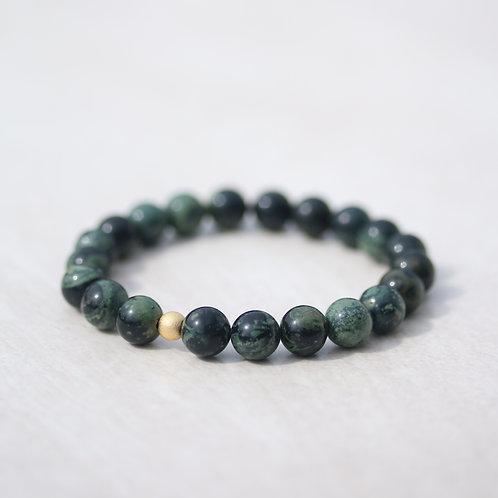 8mm green Rhyolite gemstone bracelet