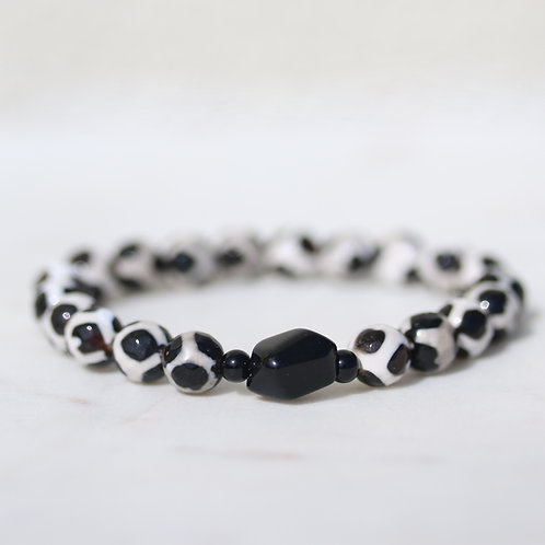 Rustic Agate stone bracelet