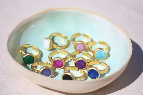 Colorful Jadestone rings