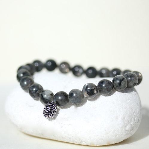 Natural black Labradorite gemstone bracelet