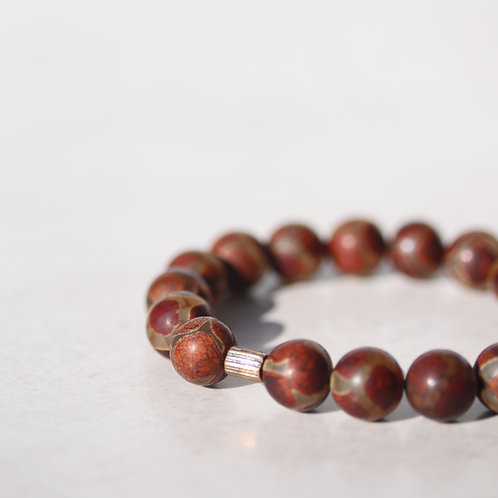 "Agate gemstone bracelet ""tribe"""