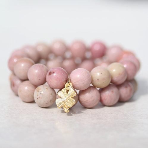 """""""Alhambra""""  Rhodonite gemstone bracelet"""