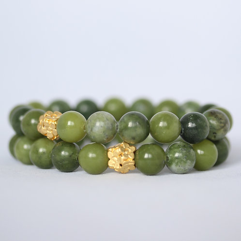 Green Jasper gemstone bracelet