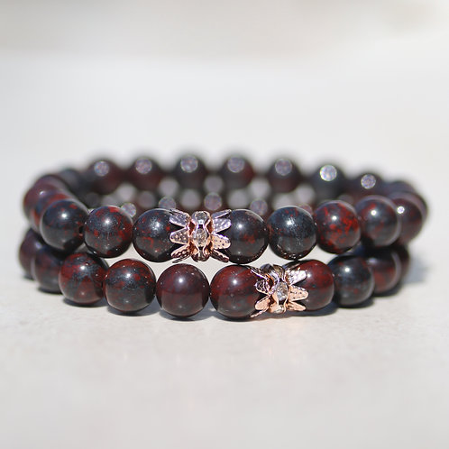 Red Brecciated Jasper bracelet