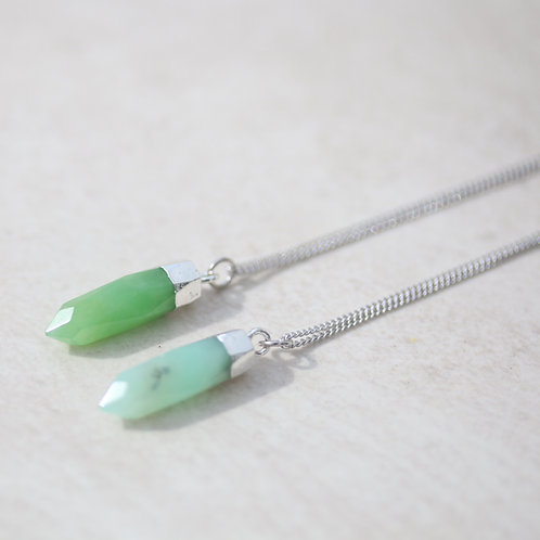 Australian Jade spike charm necklaces