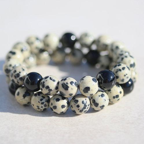 Jasper and Onyx bracelet