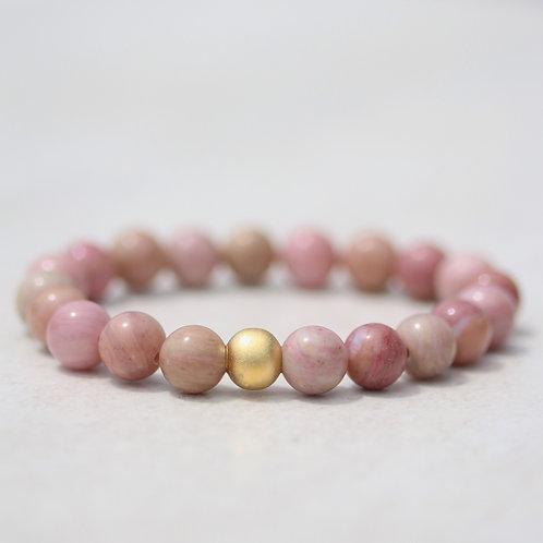 Natural Rhodonite bracelet