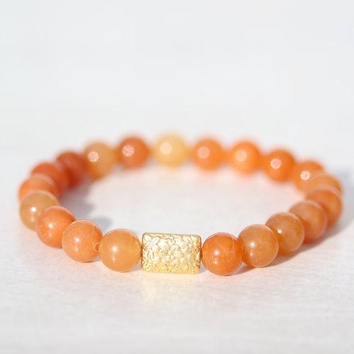 Orange Aventurine stone bracelet